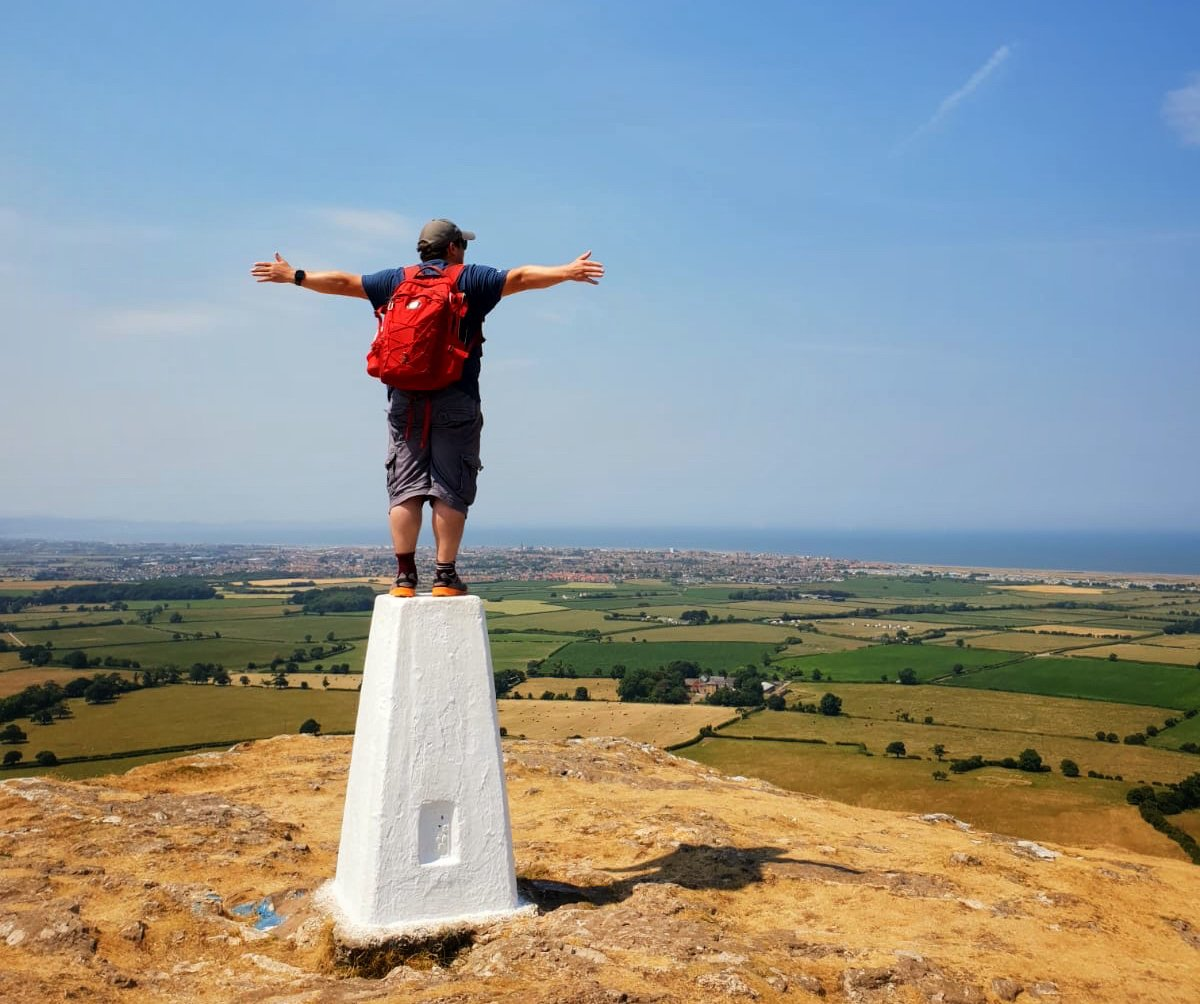 Header of Darren on a Trig Point