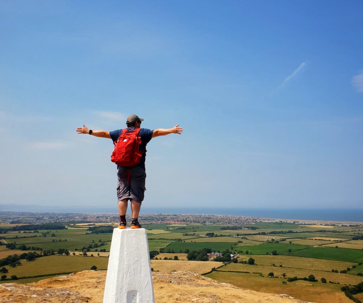Darren on a Trig Point