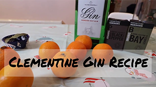 Clementines and Gin ingredients