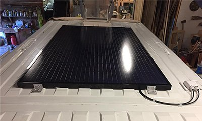 750w Solar panel to power our off grid camper van